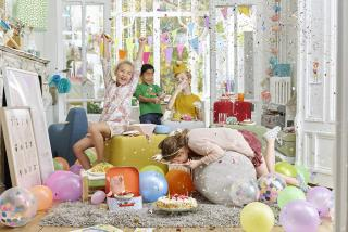 Kids at a party with Vivalife performance fabrics upholstered furniture